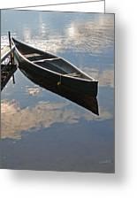 Waiting Canoe Greeting Card by Renee Forth-Fukumoto