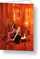 Waiting For My Husband Greeting Card by Shelley Irish