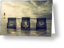 Waiting For The Flood Greeting Card by Joana Kruse