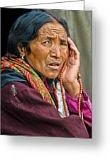 Waiting In Dharamsala For The Dalai Lama Greeting Card by Don Schwartz