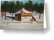 Walden Pond Greeting Card by Janet C Stevens