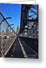 Walk Across Sydney Harbour Bridge Greeting Card by Kaye Menner