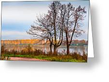 Walk Along The River Bank Greeting Card by Jenny Rainbow