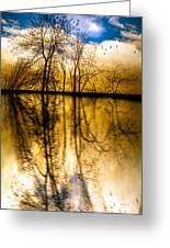 Walk Along The River Greeting Card by Bob Orsillo