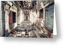 Walk Of Death - Abandoned Asylum Greeting Card by Gary Heller