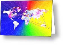 Walk The World Greeting Card by Daniel Janda