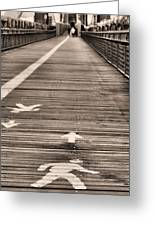 Walk This Way Greeting Card by JC Findley