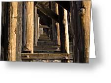 Walking Bridge II Greeting Card by Bill Gallagher