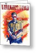 Walking Dead Rick Greeting Card by Ken Meyer jr