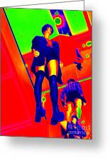 Walking On Air Greeting Card by Ed Weidman