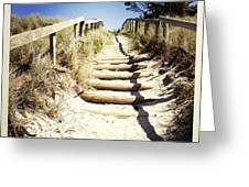 Walkway Greeting Card by Les Cunliffe