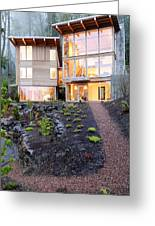 Walkway To Modern House Greeting Card by Will Austin