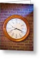 Wall Clock 1 Greeting Card by Douglas Barnett