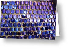Wall of Blue Greeting Card by Anna Villarreal Garbis