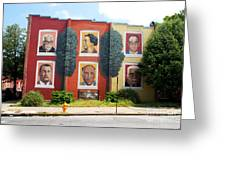 Baltimore's Wall Of Leadership Greeting Card by Walter Oliver Neal
