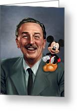 Walt Disney Mickey Mouse Partners Greeting Card by Jennifer Hickey