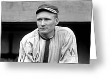 Walter Johnson Close Up Greeting Card by Retro Images Archive