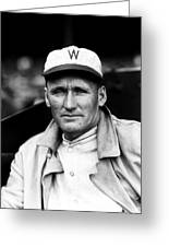 Walter P. Johnson With Coat On  Greeting Card by Retro Images Archive