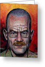 Walter White Greeting Card by Mark Tavares