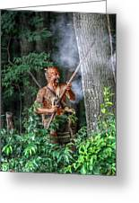 War Cry Indian Warrior Greeting Card by Randy Steele