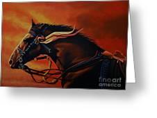 War Horse Joey  Greeting Card by Paul Meijering
