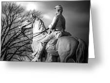 War Horses - 8th Pennsylvania Cavalry Regiment Pleasonton Avenue Sunset Autumn Gettysburg Greeting Card by Michael Mazaika