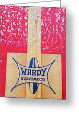 Wardy Surfboards Greeting Card by Ron Regalado