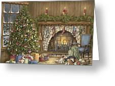 Warm Christmas Greeting Card by Beverly Levi-Parker