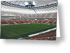 Warsaw Stadion Greeting Card by Pati Photography