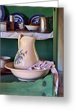 Wash Basin Still Life Greeting Card by Nikolyn McDonald