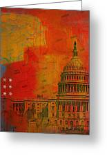 Washington City Collage Alternative Greeting Card by Corporate Art Task Force
