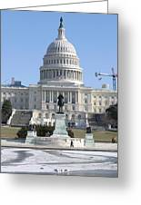 Washington Dc - Us Capitol - 01132 Greeting Card by DC Photographer
