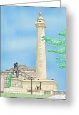 Washington Monument In Baltimore Greeting Card by Calvert Koerber