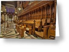 Washington National Cathedral Sanctuary Greeting Card by Susan Candelario