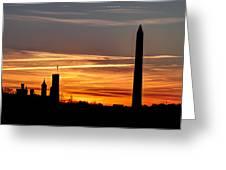 Washington Sunset Greeting Card by Walt  Baker