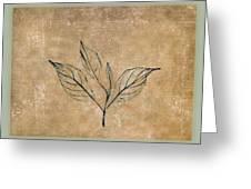 Watch A Leaf Greeting Card by Bob RL Evans