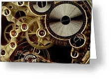 Watch Mechanism. Close-up Greeting Card by Bernard Jaubert