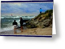 Watching The Storm Come In Greeting Card by Rosemarie E Seppala