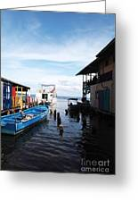 Water Alley In Bocas Town Greeting Card by John Rizzuto