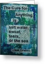 Water Cure - 1 Greeting Card by Gillian Pearce
