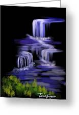 Water Falls Greeting Card by Twinfinger