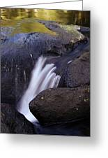 Water Flowing Greeting Card by Les Cunliffe