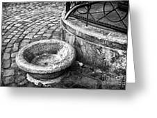 Water In The Square Greeting Card by John Rizzuto