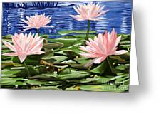 Water Lilies Greeting Card by Tim Gilliland