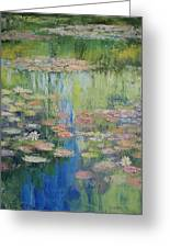 Water Lily Pond Greeting Card by Michael Creese