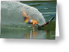 Water Skiing 5 Magic Of Water Greeting Card by Bob Christopher