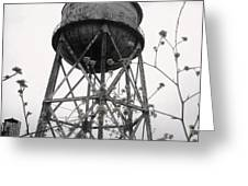 Water Tower Greeting Card by Mike Grubb