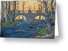 Water Under The Bridge Greeting Card by Brenda Brown