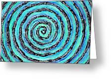 Water Vortex Greeting Card by Carla Sa Fernandes