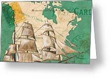 Watercolor Map 2 Greeting Card by Debbie DeWitt